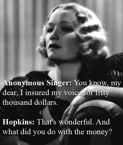 Miriam Hopkins quick comeback to another singer
