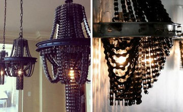 Recycled Bicycle Chandeliers