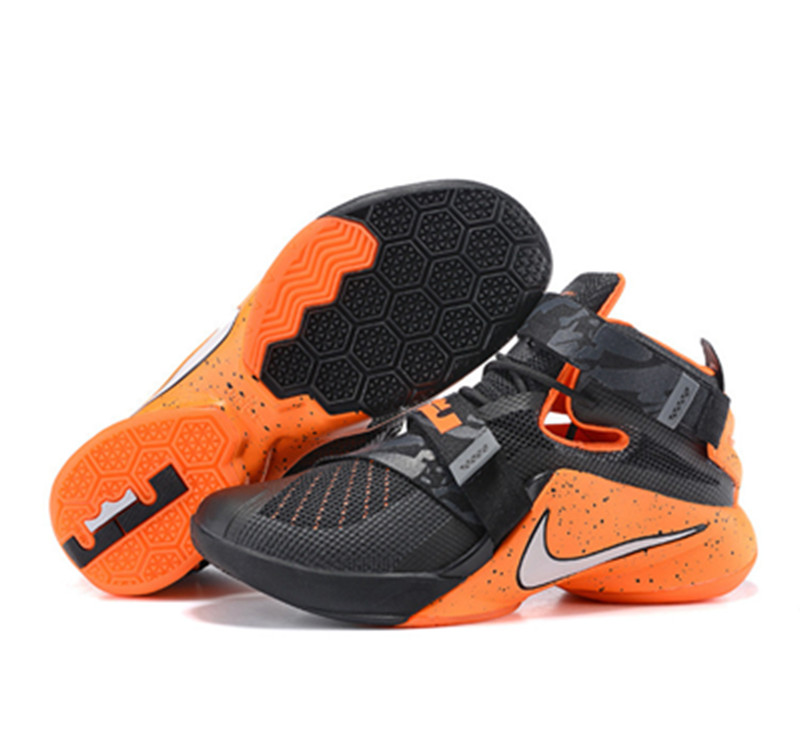 NIKE Lebron James 9 Soldier Black Black Orange