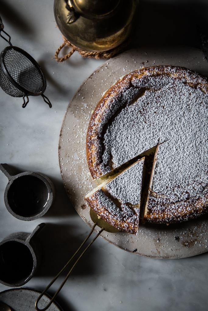 white chocolate ricotta cheesecake