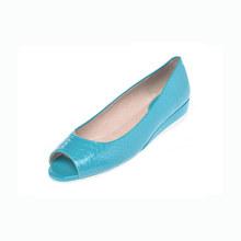 1014102186 休闲鱼嘴单鞋 达芙妮春款 女单鞋 漆皮鳄鱼纹正品 Daphne