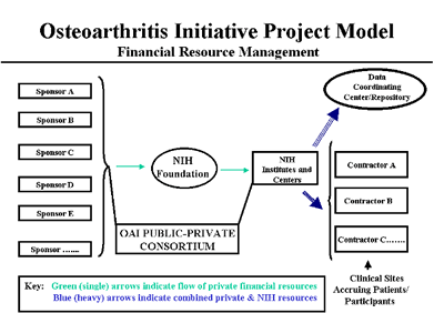 Chart showing the Osteoarthritis Initiative Project Model