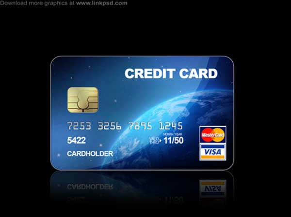 Blue-Credit-cards-PSD-file
