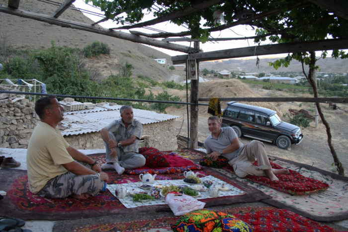 Chilling out on the porch in Nokhur