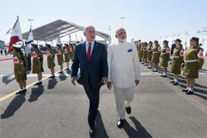 Photos:Modi's 'historic' visit to Israel in...