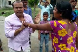 A woman thrashed circle officer (CO) of Gaighat block in Bihar's...
