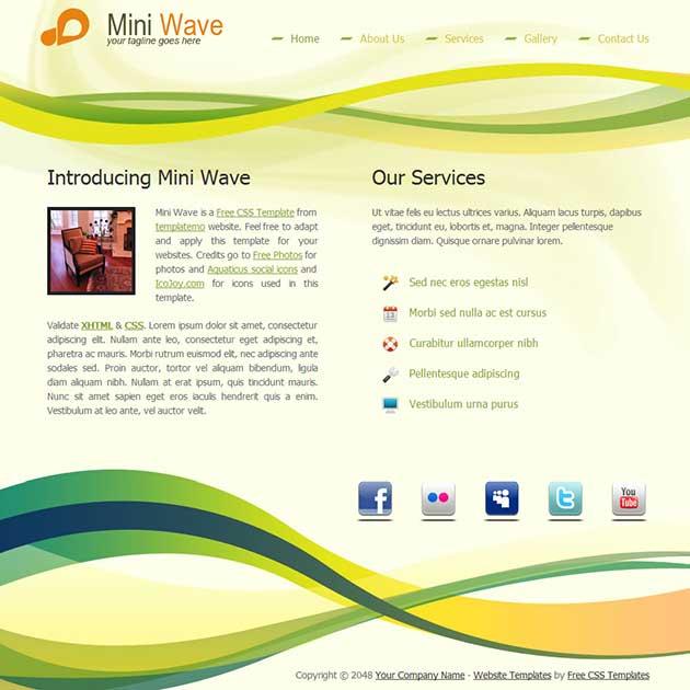 mini-wave-free-template