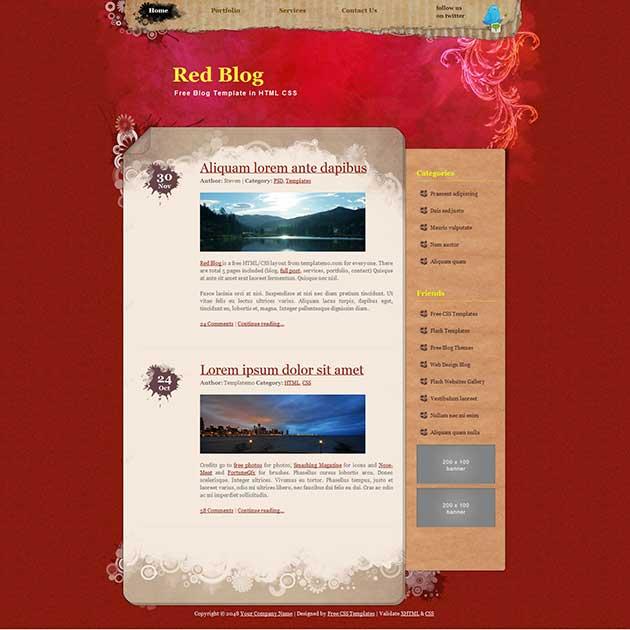 red-blog-template-free-dreamweaver-template