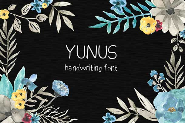 yunus-handwriting-free-font