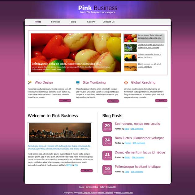 pink-business-template