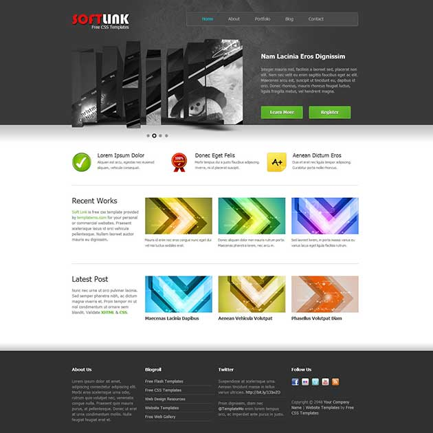 soft-link-free-template