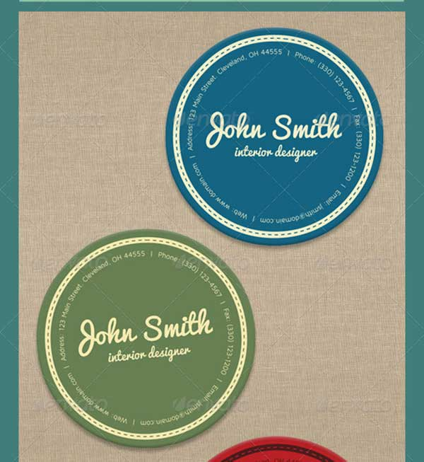 round-vector-business-card-template