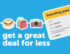 present your <span style='text-transform:none'>Tigerair</span> boarding pass for exclusive deals