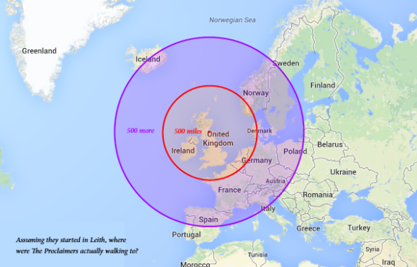 the proclaimers travel map