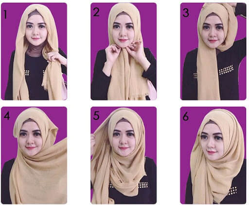 model tutorial hijab simple sederhana