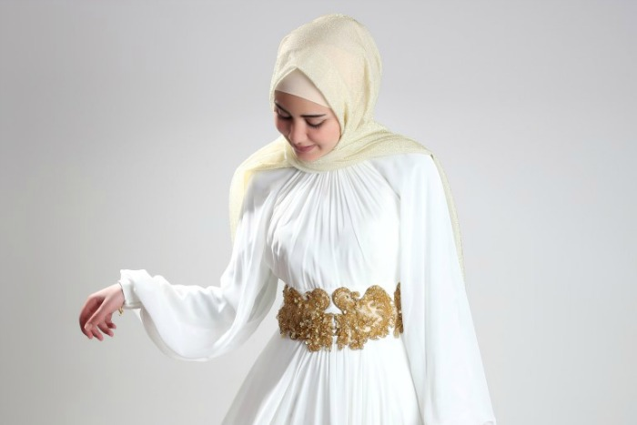 busana muslim pesta modern murah model terbaru, trendy dan cantik
