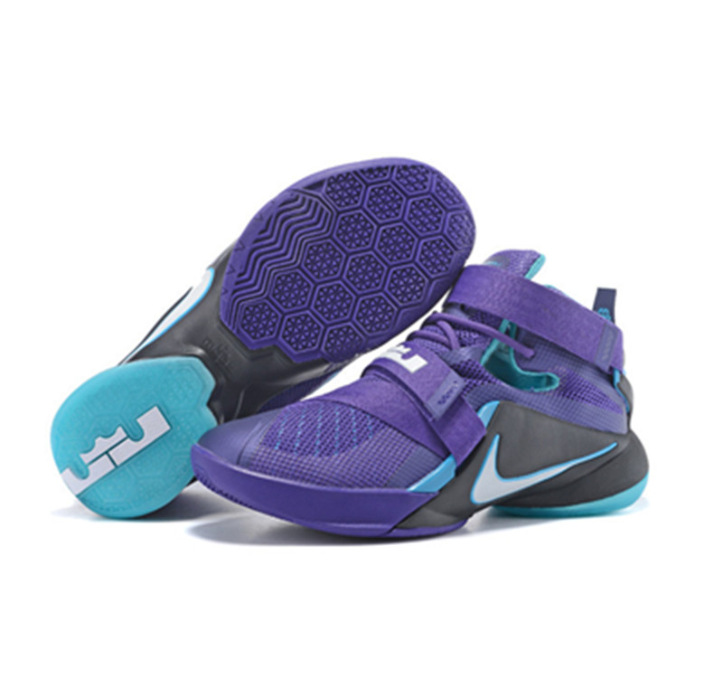 NIKE Lebron James 9 Soldier Blacu Purple
