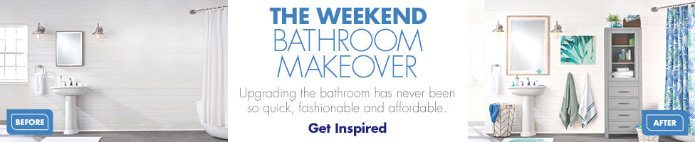 The Weekend Bathroom Makeover. Get Inspired