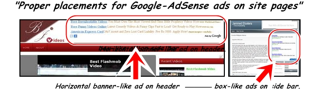 Best placement for Google AdSense Ads
