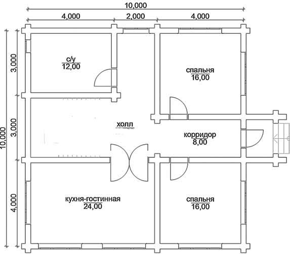 Экономная планировка дома