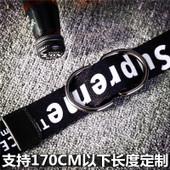 韩国版英文字母双面印花帆布腰带男生女生通用休闲皮带双环扣裤