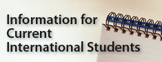 Information for Current International Students