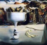 """Dalí - """"Aparición de una cara y un frutero sobre una playa"""" - 1938"""