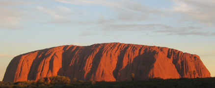 Uluru sunset. Copyright AH