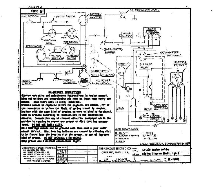 Lincoln    Sa 200 Wiring Schematic     Wiring Diagrams
