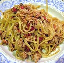 spaghetti, tuna and anchovy recipe