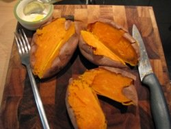 sweet potato ravioli preparation