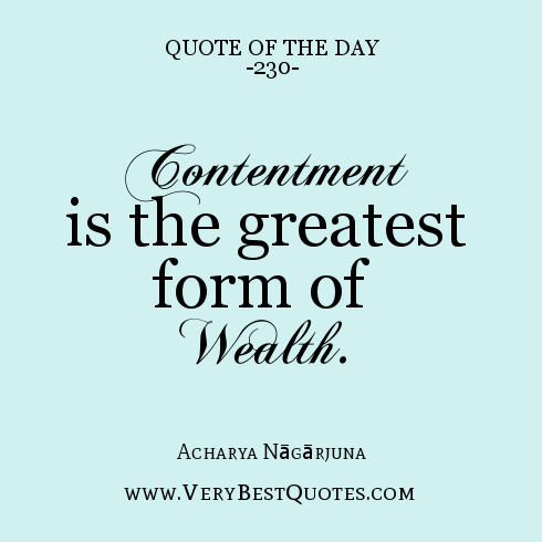 Quotes About Contentment