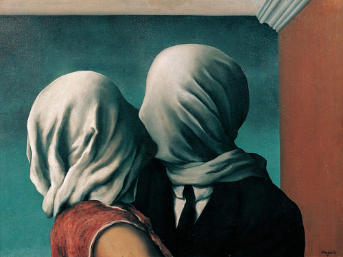 René Magritte - The Lovers, 1928