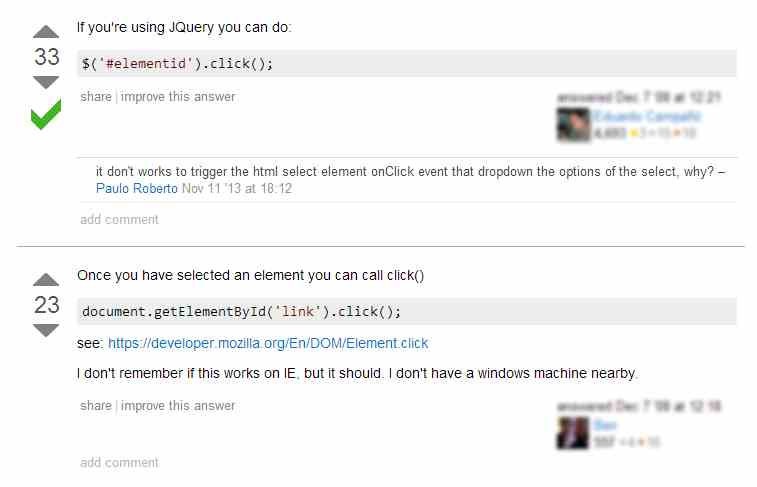 jQuery Stack Overflow Answer