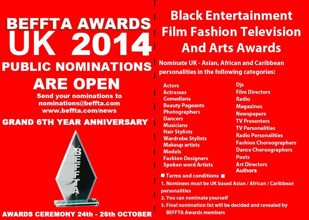 BEFFTA UK NOMINATIONS 2014