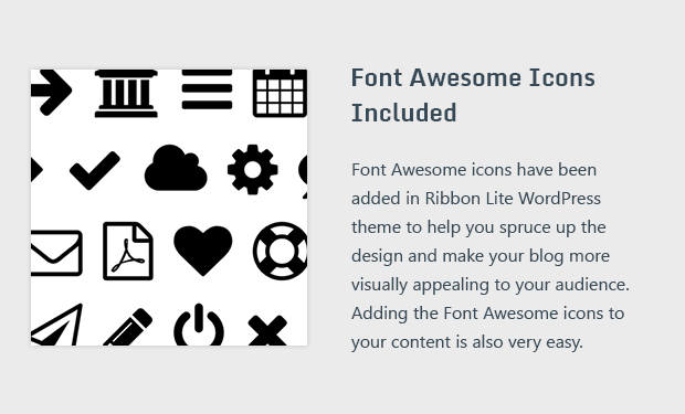 Font Awesome Icons Included