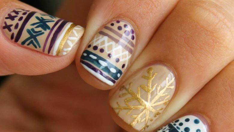 Cute Winter Nail Art Ideas from Instagram