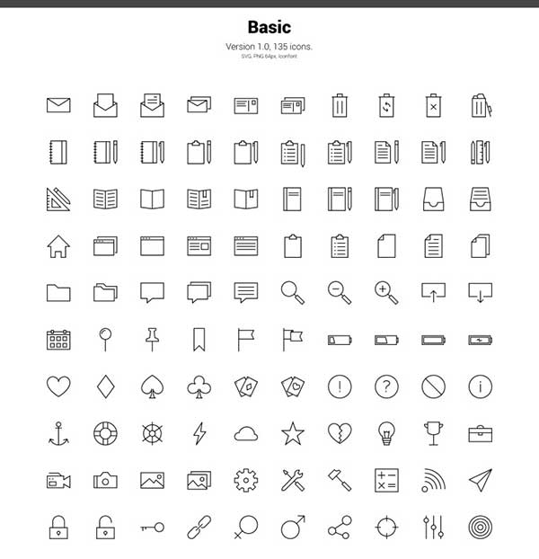 LINEA-BASIC-ICONSET