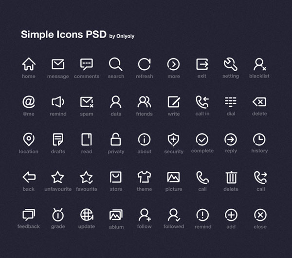 simple-icon-psd