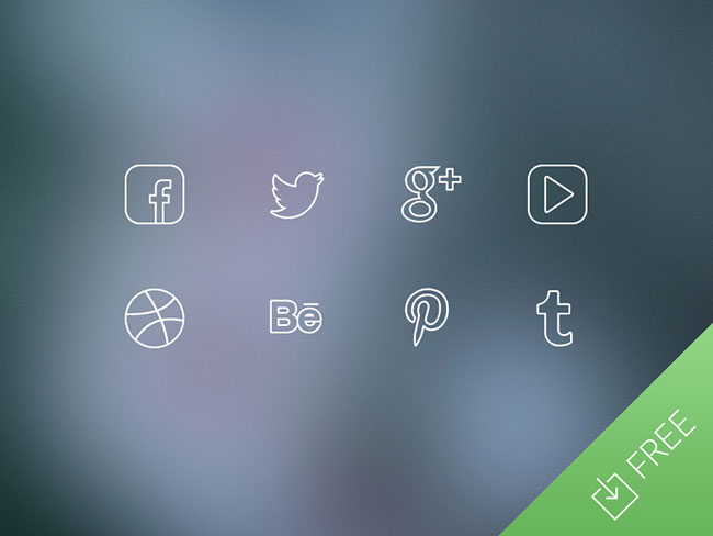 Ultra-Thin-Social-Media-Icons