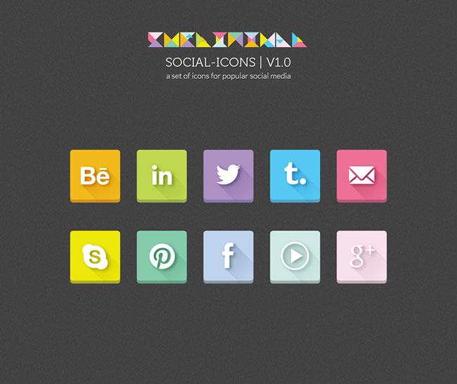 Social-Long-Shadow-Icons