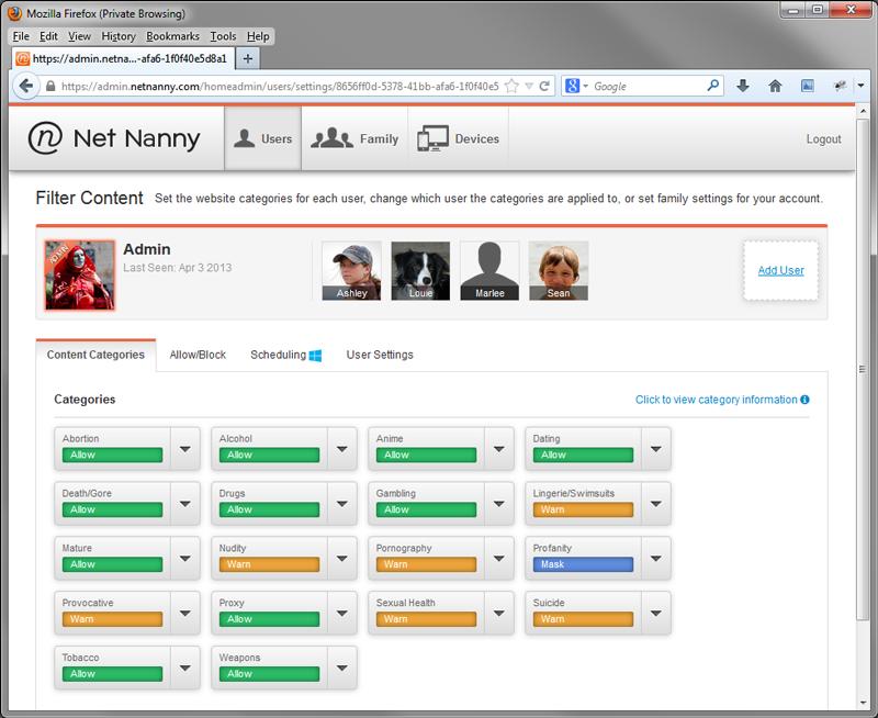 Net Nanny Web Admin