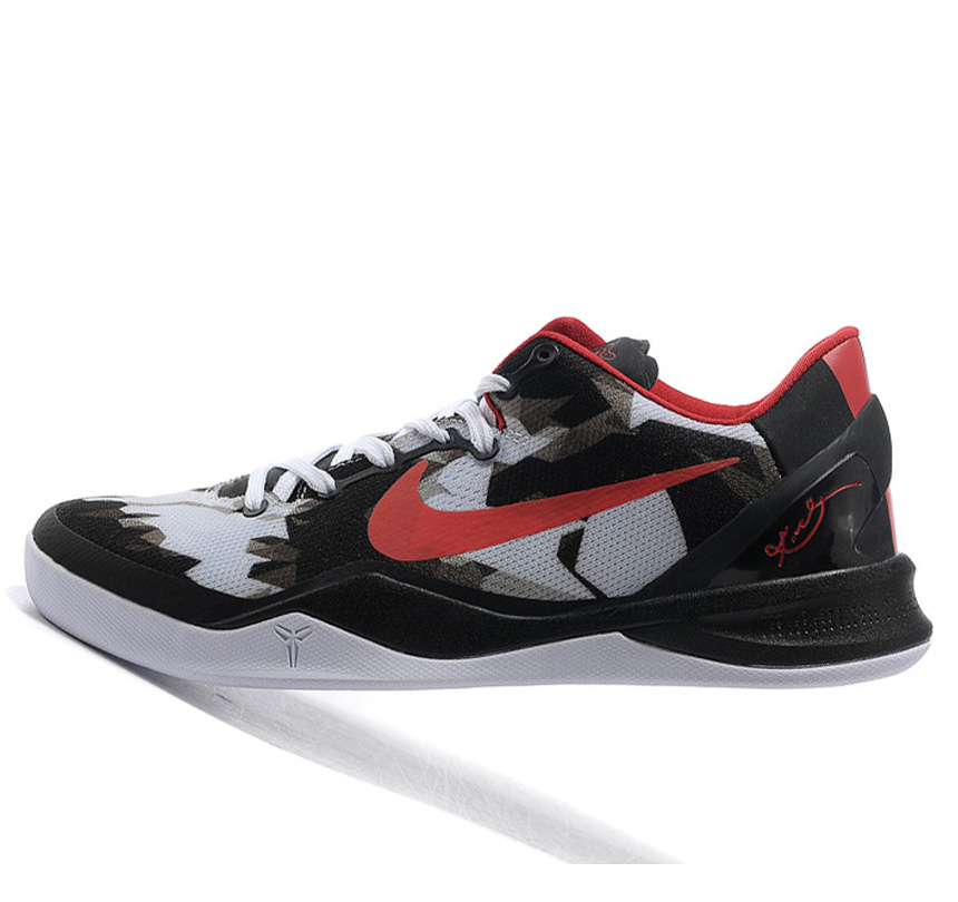 Nike Kobe VIII 8 Zoom System white black red Shoes
