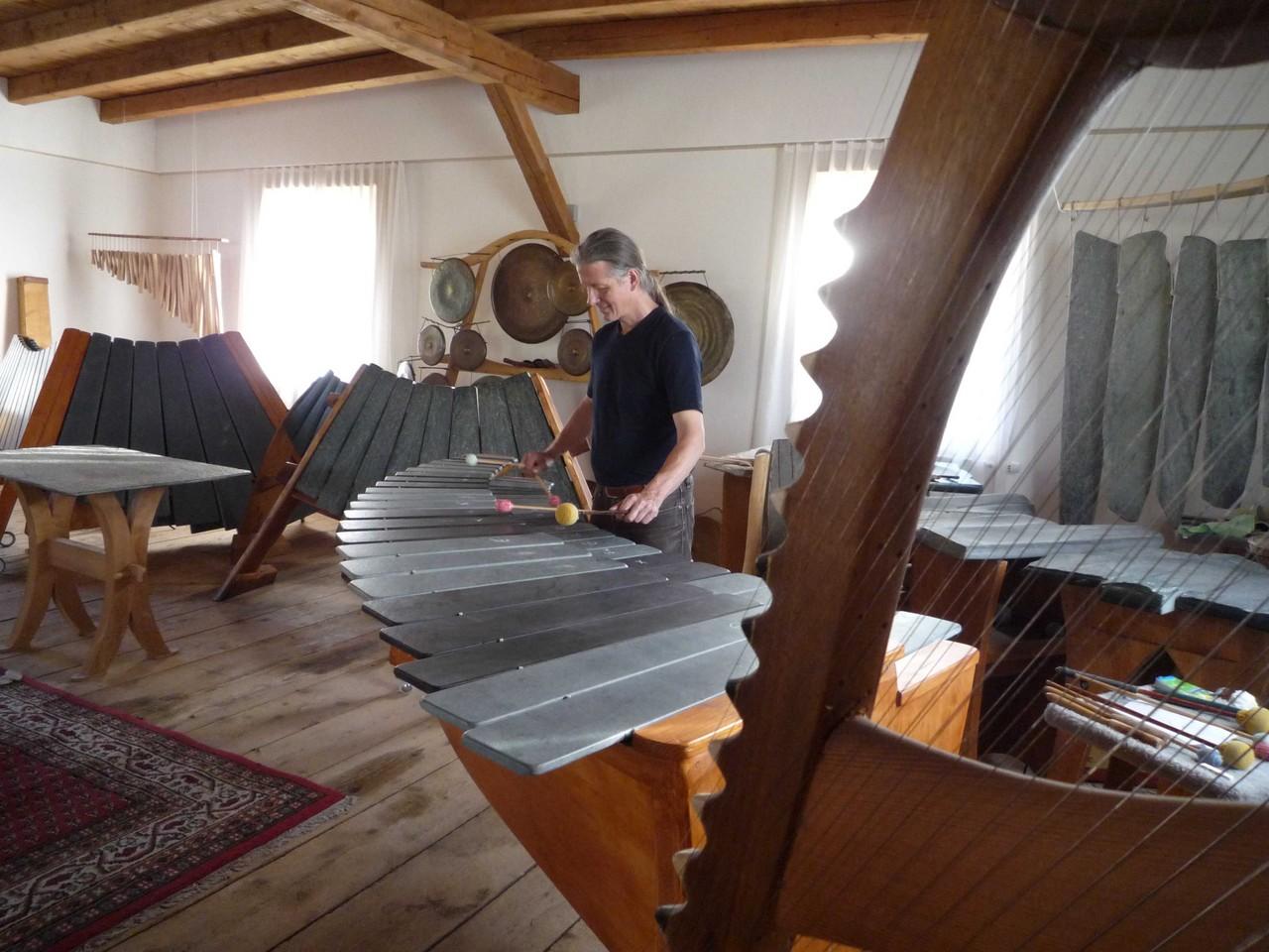 CD recording at Steinmusik Atelier, Heldswil, Switzerland