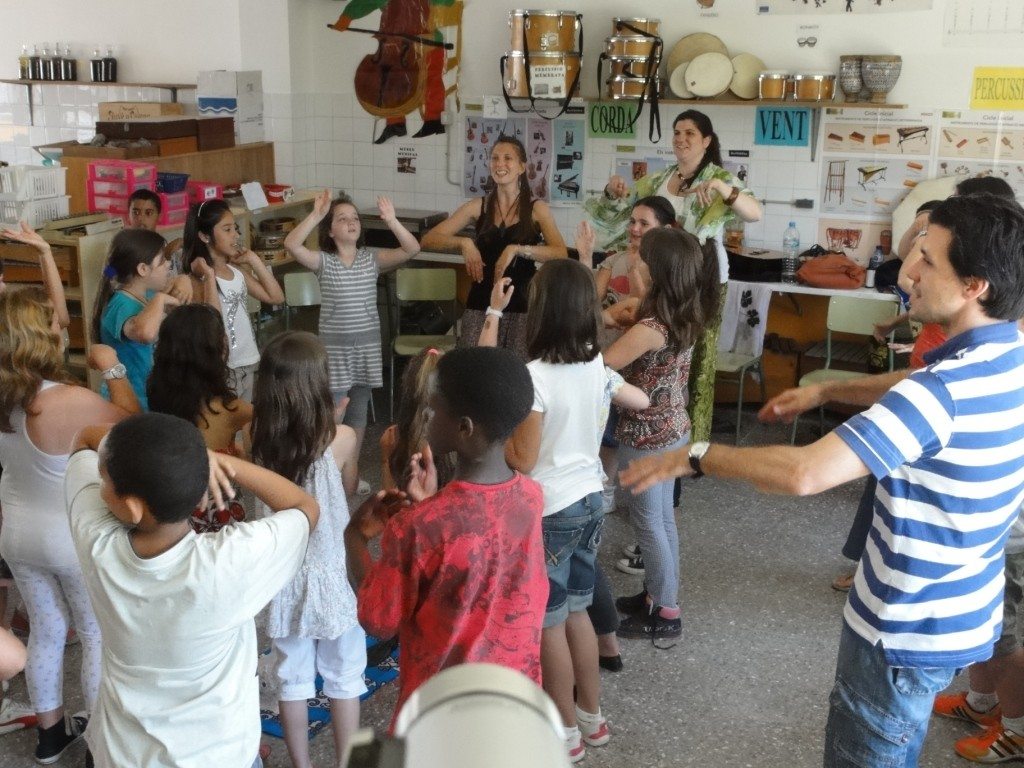 School Project with Aroa Fundation in Pineda del Mar, Spain May 2011