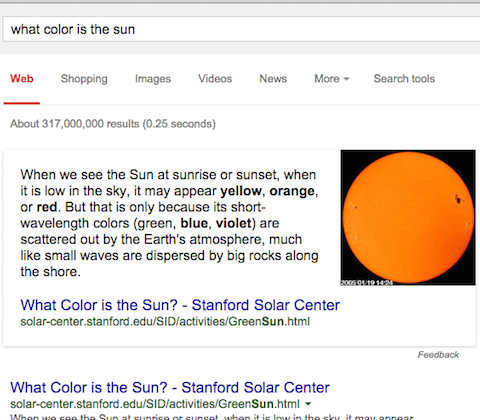 what color is the sun