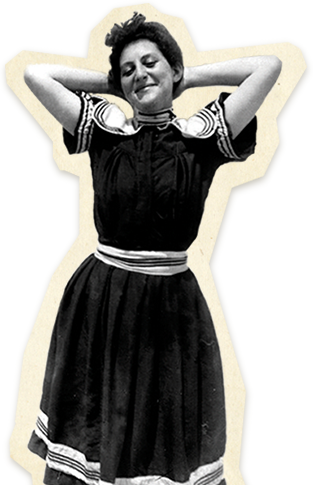Woman dancing and smiling
