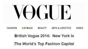 NewYork is the Top Global Fashion Capital of 2014