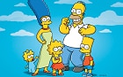The Simpsons, from left, Maggie, Marge, Lisa, Homer and Bart