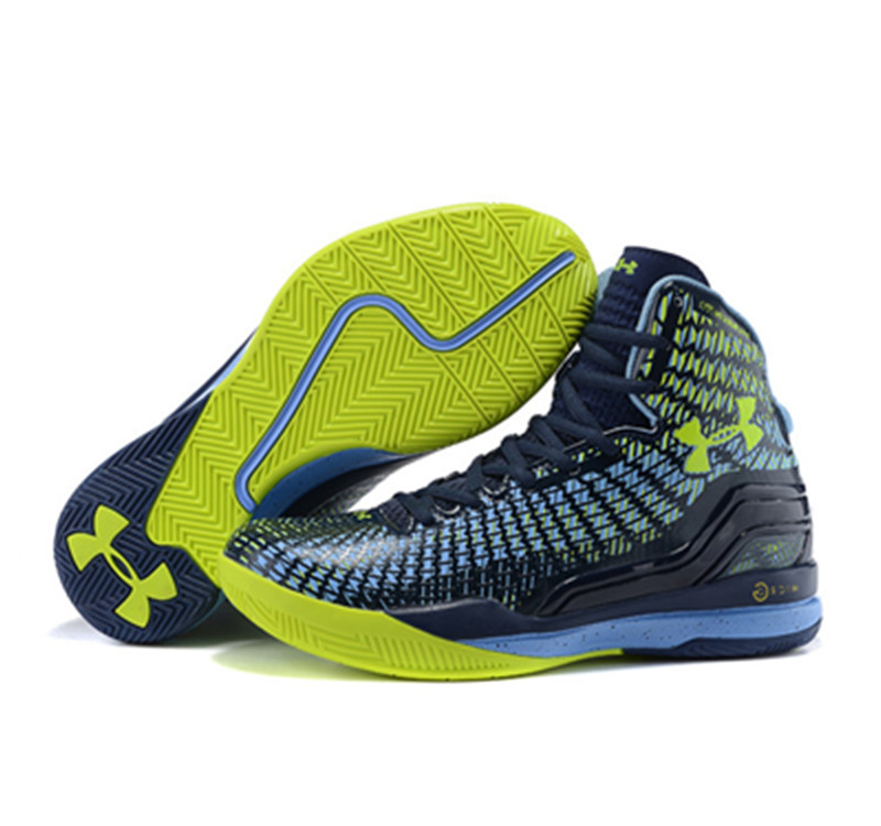 Under Armour Stephen Curry 1 Shoes 2015 blue yellow